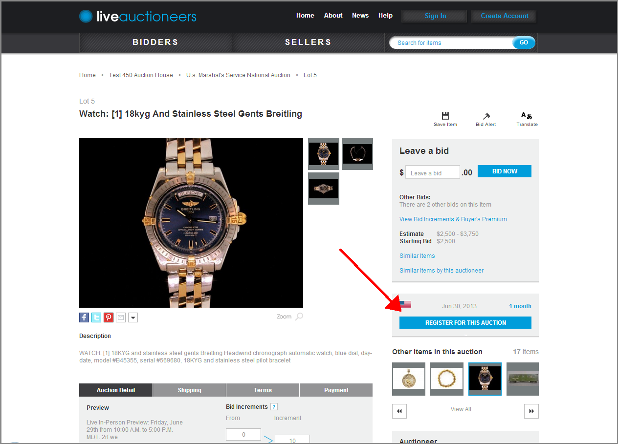 Bidding live live auctioneers for How to bid at a live auction