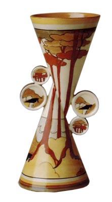 Yo-yo vase in Coral Firs pattern
