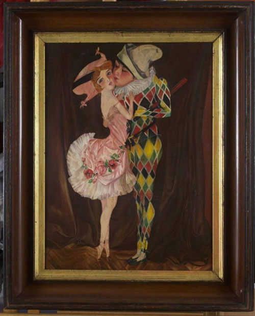 An oil on canvas by Goncharova was top lot of the sale at $20,700.