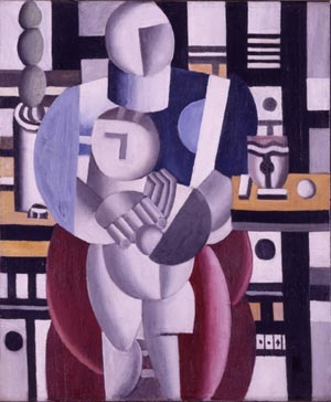Fernand Leger's 1921 oil on canvas titled Woman and Child, missing from the Wellesley College Collection. A reward of $100,000 has been offered for its return. Copyright Wellesley College. All rights reserved. Used by permission.