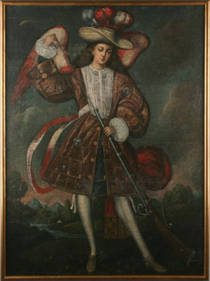 Though the artist is not known, this Spanish Colonial Schoolpainting of the Archangel Uriel, done around 1700, flew to $14,375.