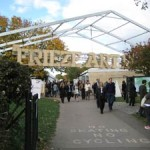The entrance to the Frieze Art Fair in Regent's Park, London on October 17. Image Auction Central News.