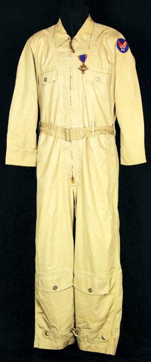 Flight suit and Distinguished Service Cross belonging to Brig. Gen. Paul Tibbets, pilot of the Enola Gay. Estimate: $150,000-$250,000. Image courtesy Alexander Autographs.