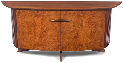 This George Nakashima cabinet by Widdicomb, No. 247L, 1961, is in excellent original condition and has a $7,000-$9,000 estimate. Image courtesy Treadway Toomey.