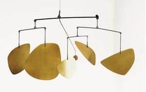 Made of brass, this signed and dated 47 hanging mobile by Alexander Calder is more than 8 feet wide. It sold for more than $2.4 million at a Sotheby's New York auction Nov. 9, 2005