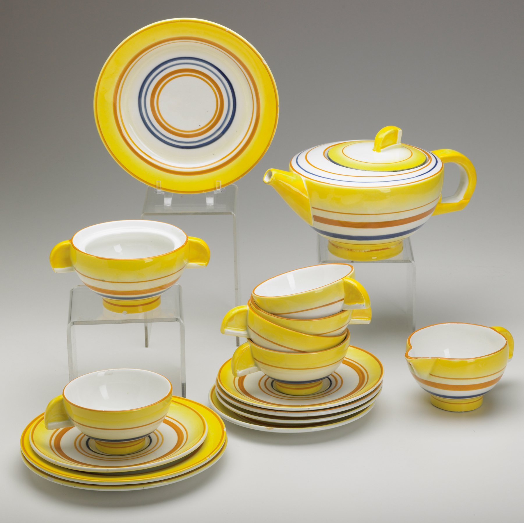 Faience 16-piece Tea Set made in Schramberg Germany early in Zeisel\u0027s & The Many Gifts of Eva Zeisel