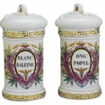 These Old Paris porcelain apothecary jars sold for $835 at a Neal Auction in New Orleans a few months ago.