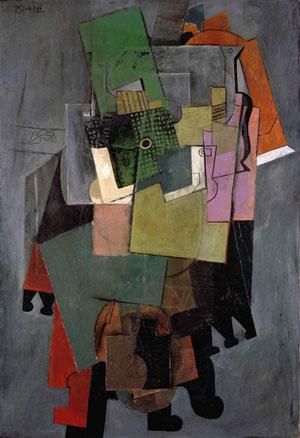 PABLO PICASSO (1881-1973), Instruments de musique sur un guéridon, Signed Picasso, Oil on canvas, 130 x 89 cm., Executed in 1914, Estimate : $40.5M - $54M). Image Courtesy Christie's Images Ltd.