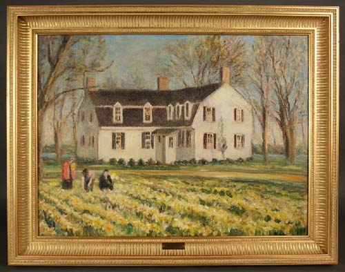 A painting attributed to American impressionist Catherine Wiley (1879-1958) topped Case Gallery's largest sale yet of fine art, bringing $12,375. Image courtesy Case Antiques Auction.