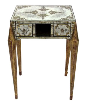 Jansen Art Deco eglomise mirrored table. Photo courtesy LiveAuctioneers Archive/S&S Auction Inc.