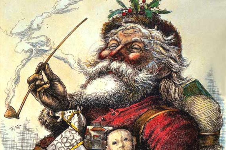 Thomas Nast portrait of Santa, published in Harper's Weekly, 1881