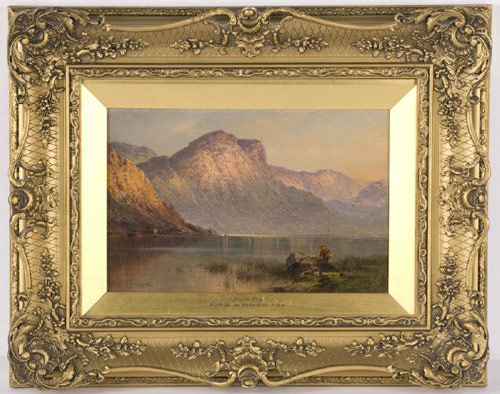 The beauty of Scotland's Loch Tay is captured in this painting by Alfred De Breanski, which made $10,755. Image courtesy Dallas Auction Gallery and LiveAuctioneers.com Archive.
