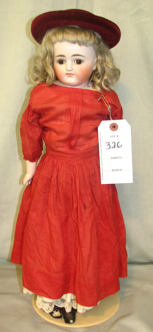 One of 35 German-made dolls (1880-1920), some quite large and all intact and in good condition. Image courtesy Hal Hunt Auctions.