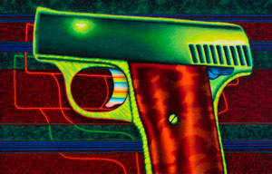 'Starry Night' is a great example of Chicago Imagist Ed Paschke's work. Image courtesy Wright.