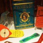 Advertising items from Trenton's once diverse food industry are included in the museum exhibit. Image courtesy of Trenton City Museum.