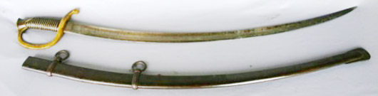 Confederate officer's saber with original scabbard, marked
