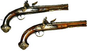 1720-1740 flintlock pistols lead antique guns to be sold Feb. 21 at Turkey Creek