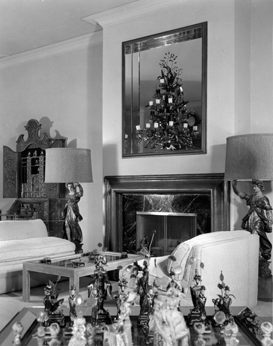 One view of the Getz house, a Hollywood interior by Tony Duquette. Image courtesy of Hutton Wilkinson, Tony Duqette Inc.