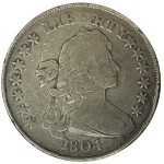 The 1804 silver dollar stolen from the collection of Willis H. duPont in 1967, and recovered in 1993. Image courtesy National Numismatic Assn.
