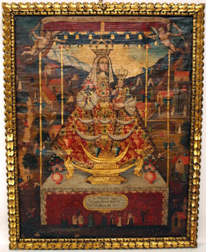 The Virgin of Cocharcas. Image courtesy Austin Auction Gallery.