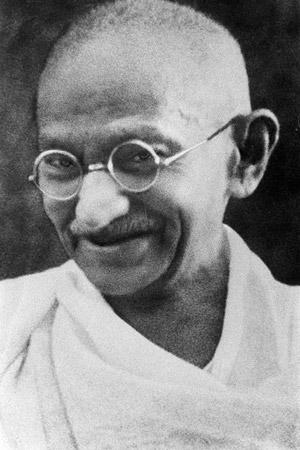 Mohandas Karamchand Gandhi. Public domain image via Wikipedia.