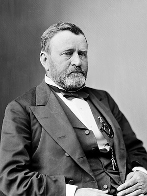 President U. S. Grant, image by either Mathew Brady or Levin C. Handy. Image courtesy Library of Congress via Wikipedia.