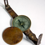 Rare North Carolina surveyor's compass, made in the late 18th century by Camm Moore ($28,750). Image courtesy Leland Little.