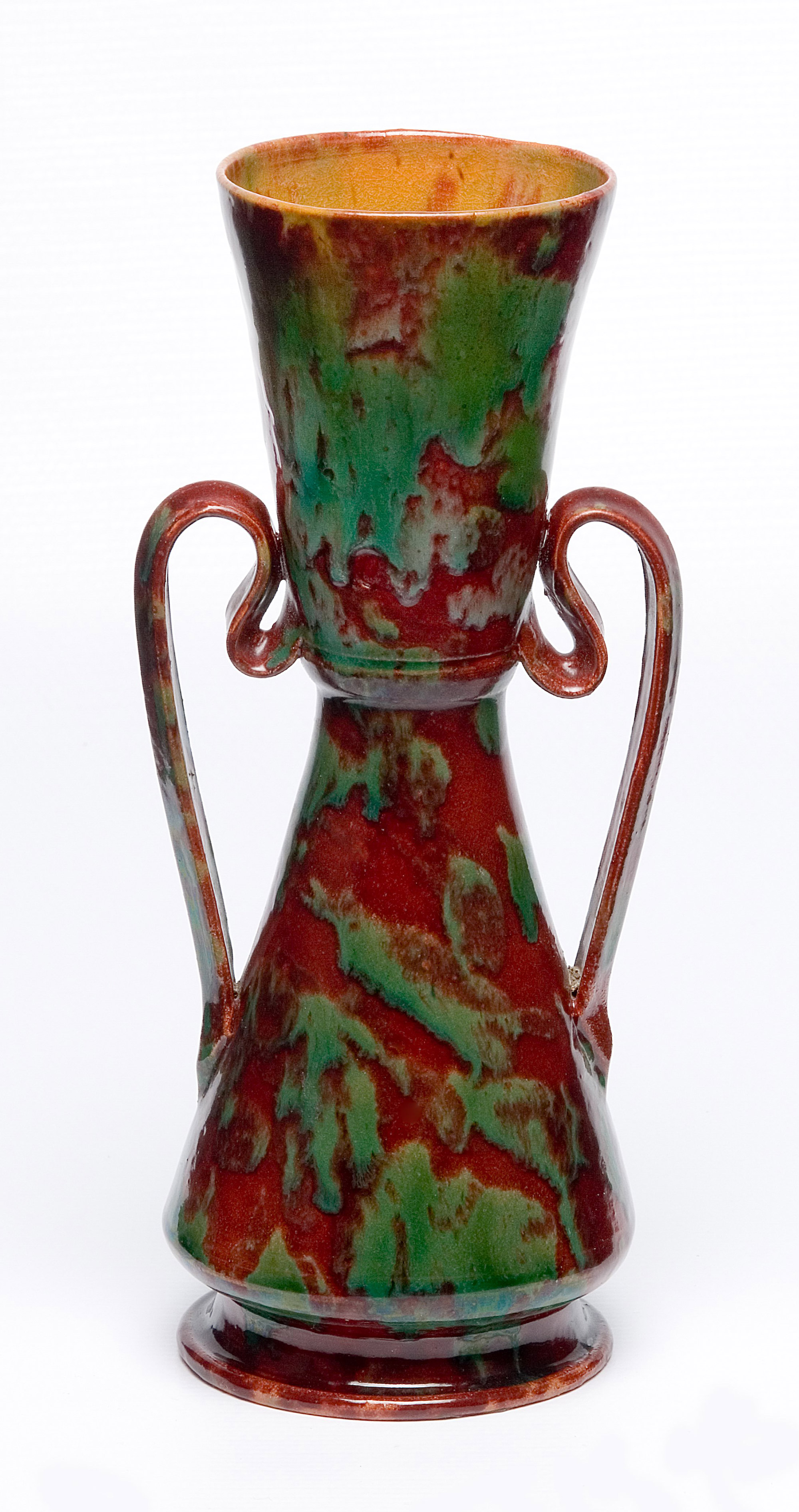 George ohr pottery method in his madness red and green vase with handles c 1898 glazed ceramic 7 3 reviewsmspy
