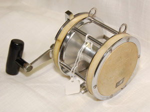 Vintage reels are a star attraction in Dudley Auction's April 10th fishing sale. Image courtesy Dudley Auction.