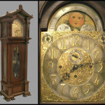 This Elliott, London mahogany tall case clock stands 8 feet 8 inches tall. Image courtesy William Jenack Auctioneers.