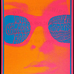 Poster for Chambers Bros. concert, 1967, art by Victor Moscoso. Image courtesy LiveAuctioneers Archive.