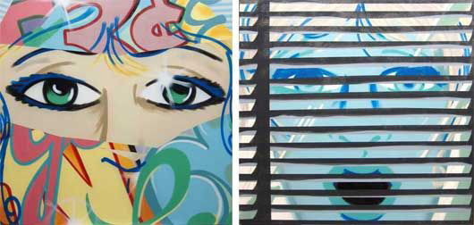 Looking In, Looking Out, diptych, 1993, by Crash. Estimate $10,000-$15,000. Courtesy Phillips de Pury & Co.
