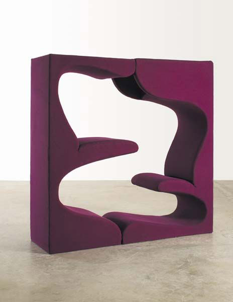 Living Tower, circa 1968, fabric and wood, by Verner Panton for Herman Miller. Estimate $15,000-$20,000. Courtesy Phillips de Pury & Co.