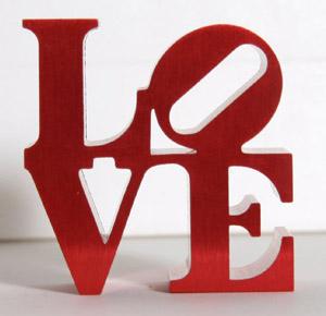 Robert Indiana, Love sculpture, estimate: $200-$300, April 16, 2009, Ro Gallery. Image courtesy LiveAuctioneers.com.