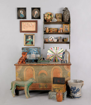 A varied selection from Pook & Pook's April 24-25 auction of Period Furniture, Fine Art and Decorative Accessories. Image courtesy Pook & Pook.