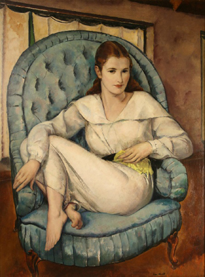 'Barbara, 1930' by Leon Kroll is estimated at $100,000-$110,000. Image courtesy Case Antiques Auction.