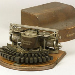 Skinner auctioned this late version Hammond Model I typewriter for $1,645. With patent dates to 1888, the machine has a two-row open keyboard with ebony keys. Image courtesy Skinner Inc. and LiveAuctioneers.com Archive.