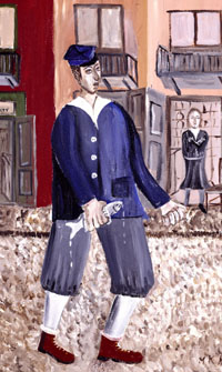 'Boy with Herring,' 1992 is from the artist's collection. Image courtesy of Barbara Kirshenblatt-Gimblet. Copyright 2009 Mayer Kirshenblatt.