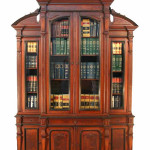 Circa-1870 American Renaissance Revival carved-walnut breakfront bookcase. Estimate $10,000-$15,000. Courtesy LiveAuctioneers.com and Grand View Antiques & Auctions.