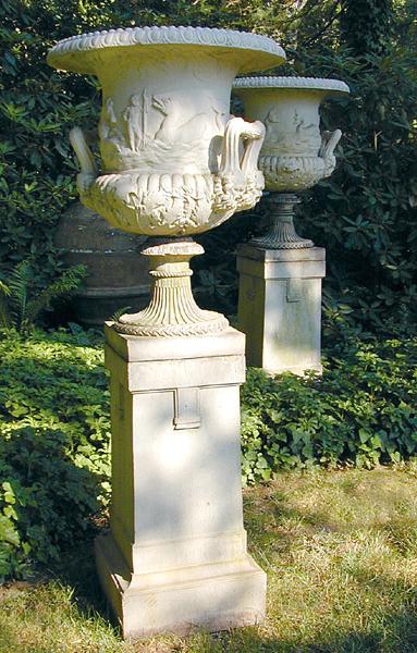 Galloway urns. Image courtesy Kamelot Auctions, Philadelphia.