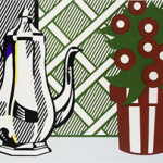 Roy Lichtenstein, Still Life with Pitcher and Flower, 1974. Estimate $14,000-$18,000. Image courtesy LiveAuctioneers.com/Santa Monica Auctions.