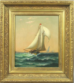 Ships in New York Harbor, William Torgerson, estimate $10,000-$15,000. Image courtesy LiveAuctioneers.com and Kaminski's.