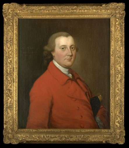 Of the school of Thomas Gainsborough (British, 1727-1788), this 30-by-25-inch oil on canvas is inscribed 'Portrait of Colonel Henry Townshend.