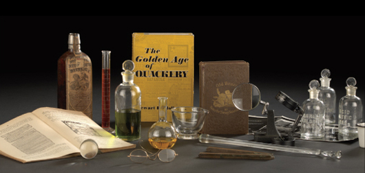 Lot 256 - Nineteen-Piece Group of Laboratory Equipment and Books, late 19th/early 20th.