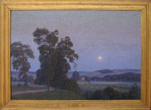 'Moonlight Nocturne' is considered an important work by western Pennsylvania artist Christian Walter. The 33-by-46 oil on canvas has a $35,000-$45,000 estimate. Image courtesy Concept Art Gallery.