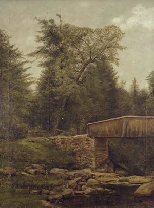 George Hetzel's 'Covered Bridge and Creek' has a $10,000-$20,000 estimate for the Concept Art Gallery auction June 6. Image courtesy Concept Art Gallery.