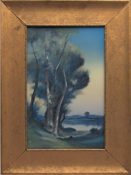 Rothenbusch with frame measures 20 1/2 inches high by 15 inches wide. Image courtesy Treadway Gallery.