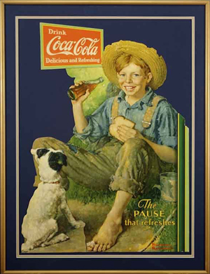 Norman Rockwell artwork for Coca-Cola. Image courtesy LiveAuctioneers Archive.