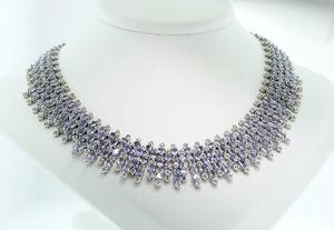 Tanzanite/diamond necklace a statement piece in Seized Assets' June 20 sale