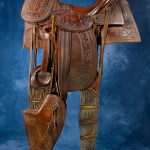 1880s Archibald Philip Primrose Main &Winchester saddle (estimate available upon request). Image courtesy Cody Old West Auction.